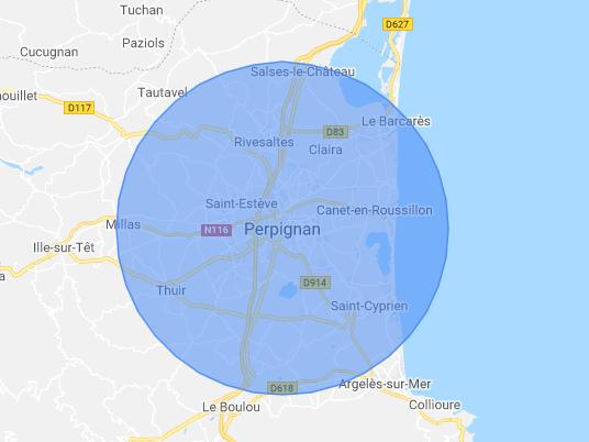 zone d'intervention des réparations sur iPhone à Perpignan